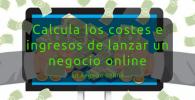 Calcula los costes e ingresos antes de lanzar un negocio online